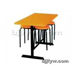 北京君发永旺 现代小吃店食堂餐厅餐桌椅 分体快餐桌组合