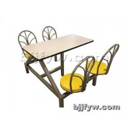北京 学生食堂不锈钢连体餐桌椅 肯德基餐桌椅组合