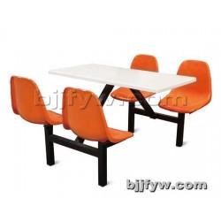 北京君发永旺 食堂快餐桌椅餐桌 四座靠背餐桌椅