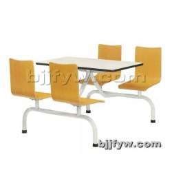 北京 4人连体餐桌椅 饭堂餐桌 食堂餐椅