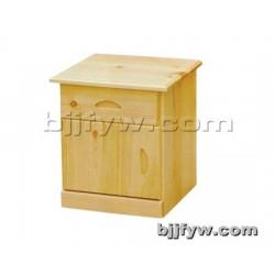 北京君发永旺 实木床头柜 床边柜储物柜 卧室实木收纳柜
