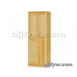 北京 实木衣柜 两门简约现代实木衣橱