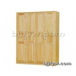 北京君发永旺 实木衣柜 组装简易储物柜木质衣橱