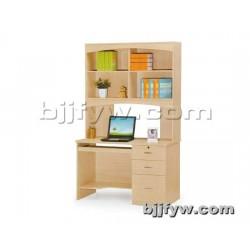 北京 简易台式电脑桌 板式家用写字台带书柜架组合桌
