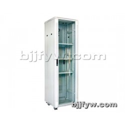 北京君发永旺 豪华加厚型服务器机柜  前玻璃后网门