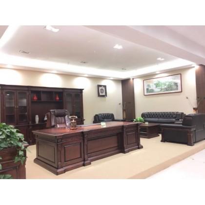 香河派格办公家具、实木班台、书柜