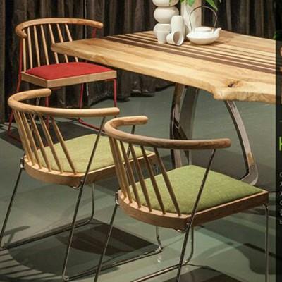 北欧原创个性白蜡实木餐椅原生态木蜡油香河专卖店