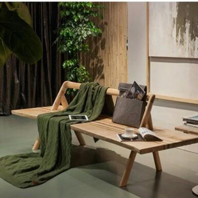 北欧原创个性白蜡实木沙发原生态木蜡油香河厂家直销