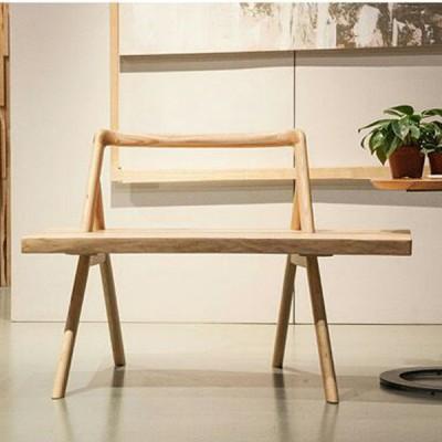慕友DAaZ北欧原创个性白蜡实木休闲椅原生态木蜡油香河专卖店