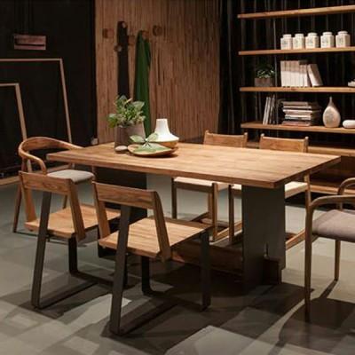 慕友DAaZ北欧原创个性花楸实木餐桌原生态木蜡油香河专卖店