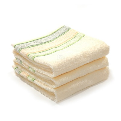 素色提花纯棉面巾