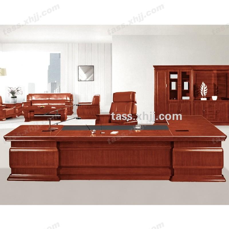 油漆实木高档大班桌 老板办公桌 经理老板台
