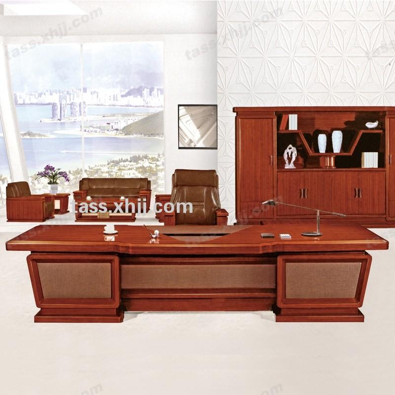 老板总裁桌 实木经理办公油漆大班台