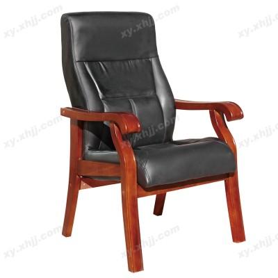 高档实木真皮会议椅 会客椅