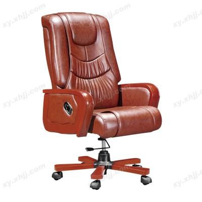 真皮时尚老板椅 实木大班椅