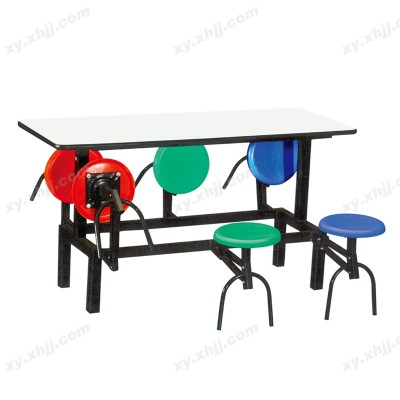 食堂可折叠餐厅桌椅