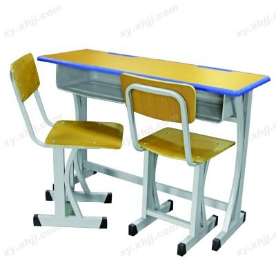 铁质双人中小学生学校培训桌椅