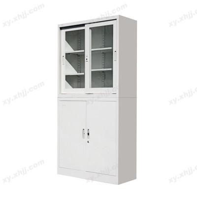 分体玻璃移门柜 钢制凭证柜