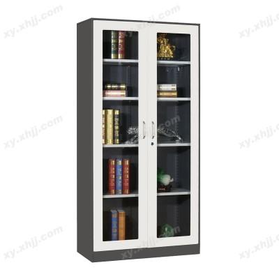 通体玻门套色柜 对开门文件柜