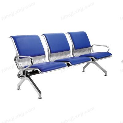 河北富都华创三人位不锈钢皮艺连排椅05