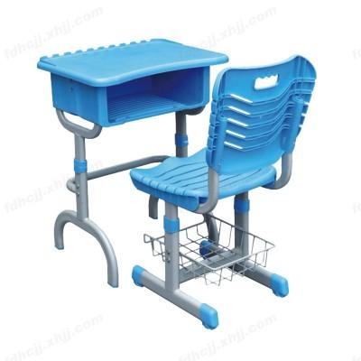 河北富都华创塑钢升降靠背课桌椅21