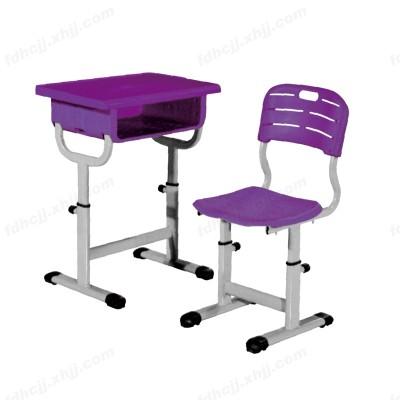 河北单人塑钢课桌椅 儿童培训学习桌20