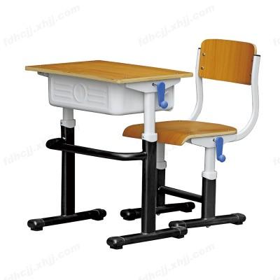 河北富都华创单人手摇升降学生课桌椅11