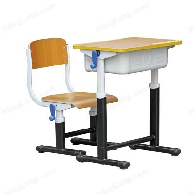 河北单人中小学生学校手摇课桌椅06