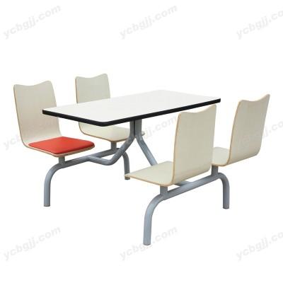 简约白色连体餐台12北京泰源益成兴盛餐桌椅