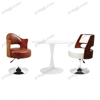 北京办公洽谈单人皮沙发 接待圆桌椅26
