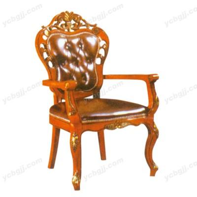 泰源益成兴盛欧式实木真皮餐椅02