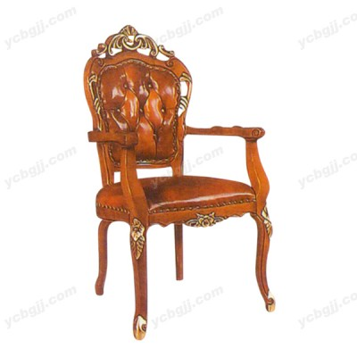 泰源益成兴盛实木雕花新古典扶手椅01