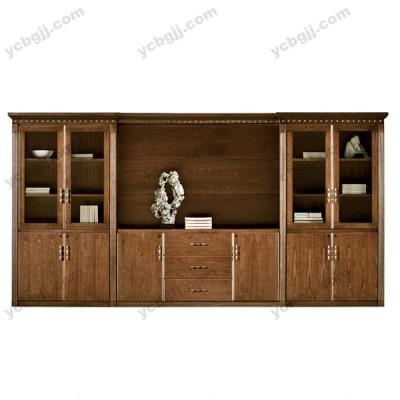 高档实木书柜13 玻璃门书柜