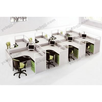 组合电脑桌 屏风隔断桌12