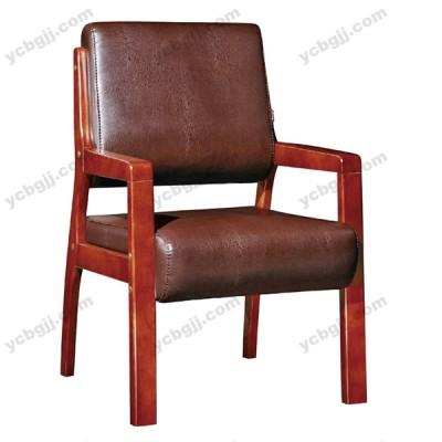 经典简约真皮实木会议椅 班前椅47