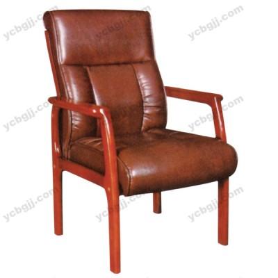 四脚实木真皮电脑椅 办公老板椅39