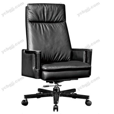 实木办公椅 头层牛皮老板椅22