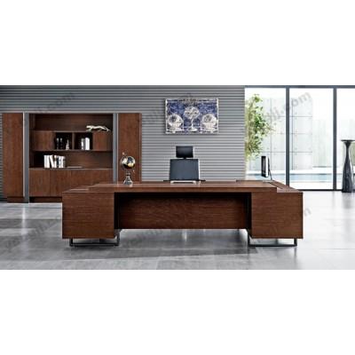油漆老板桌椅 17 实木大班台经理桌