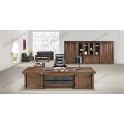 油漆实木老板办公桌 06 经理总裁桌