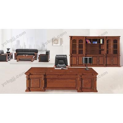 实木大班台 老板桌 04 实木办公桌 油漆老班台