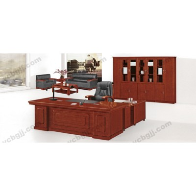 实木油漆大班台 03 经理主管老板桌