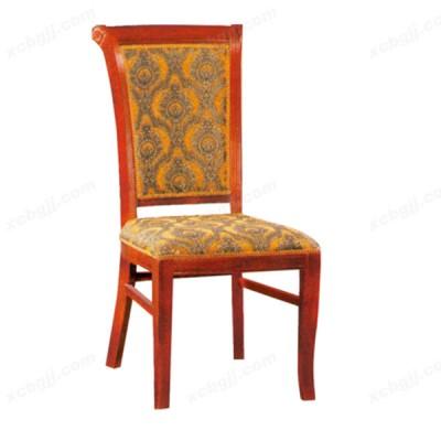 简约实木布艺餐椅 酒店椅14