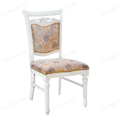 休闲家用软包白色宜家实木餐椅12