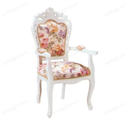 中泰昊天纯手工雕刻美式田园风格餐椅11