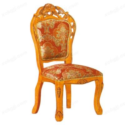 酒店现代简约欧式布艺实木软包靠背餐椅08