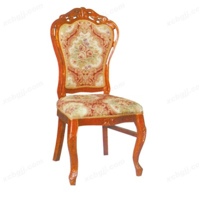 酒店餐椅 07 实木扶手餐椅