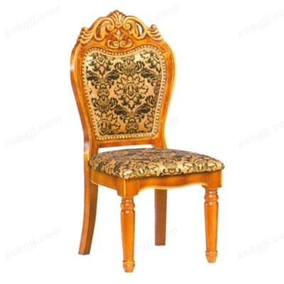 实木雕刻餐椅 06 酒店椅