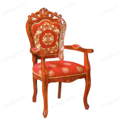 欧式餐椅 实木深色古典餐桌椅04
