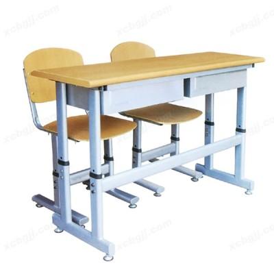 多层胶合板双人桌椅 15 中泰昊天办公家具