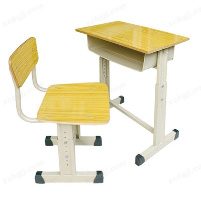 钢架课桌椅11 防火单人课桌椅